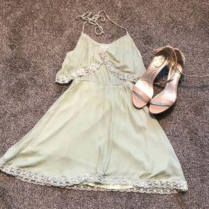 TOBI halter dress flirty and fun GUC size Small